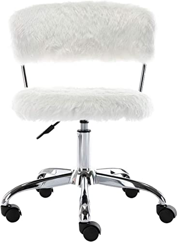 Guyou Modern Faux Fur Office Chair
