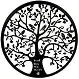 iron art - Bellaa 21925 Tree of Life Metal Wall Art Faith Love Hope Family 24