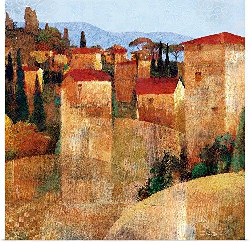greatBIGcanvas Poster Print entitled Tuscan Hillside by Keith Mallett (Tuscan Hillside Village)