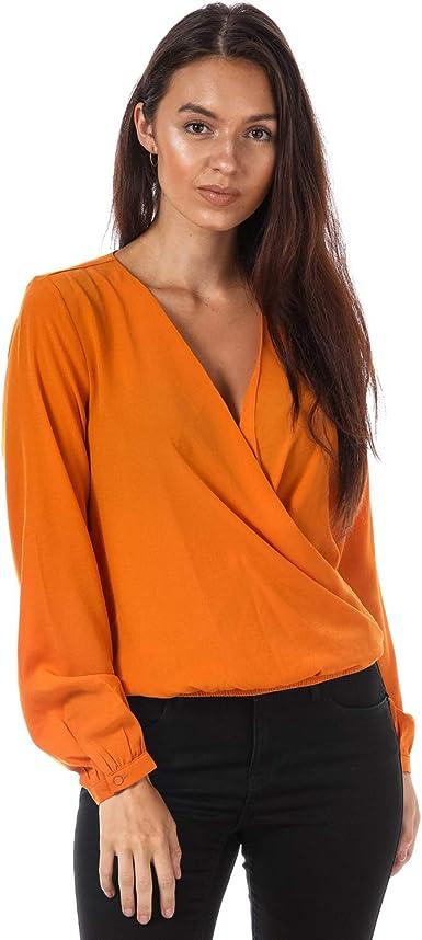 Only - Camisas - para Mujer Naranja Naranja 34: Amazon.es: Ropa