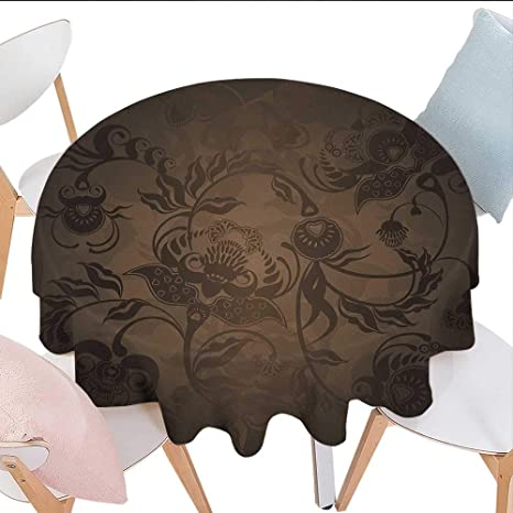 Amazoncom Longbuyer Victorian Round Vinyl Tablecloth Floral - Picture-table-by-ivydesign