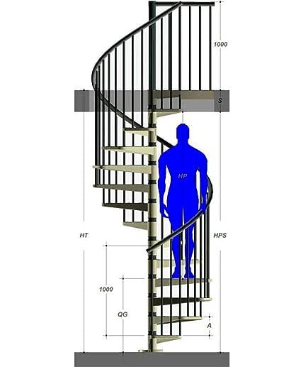 Mister Step Exterior Zink Escalera embarazada de Exterior, 14 peldaños, altura total 273-299 cm.: Amazon.es: Bricolaje y herramientas