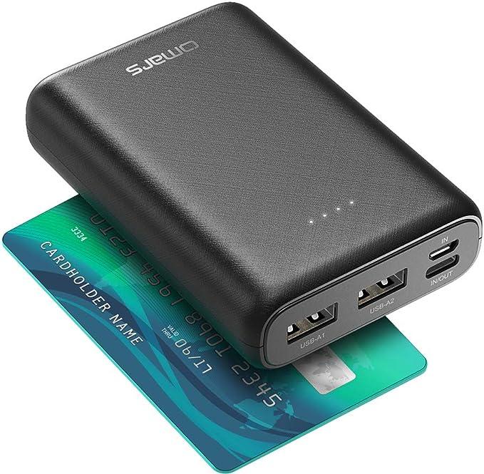 Omars Power Bank 10000 mAh, kleines und leichtes tragbares