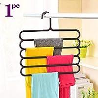 TONY STARK Closet Organizer Space Saving Plastic Multi-Functional Storage Wardrobe Clothes Organizer Hanger for Shirts, Pants, Skirts-32L x 1B x 33H cm