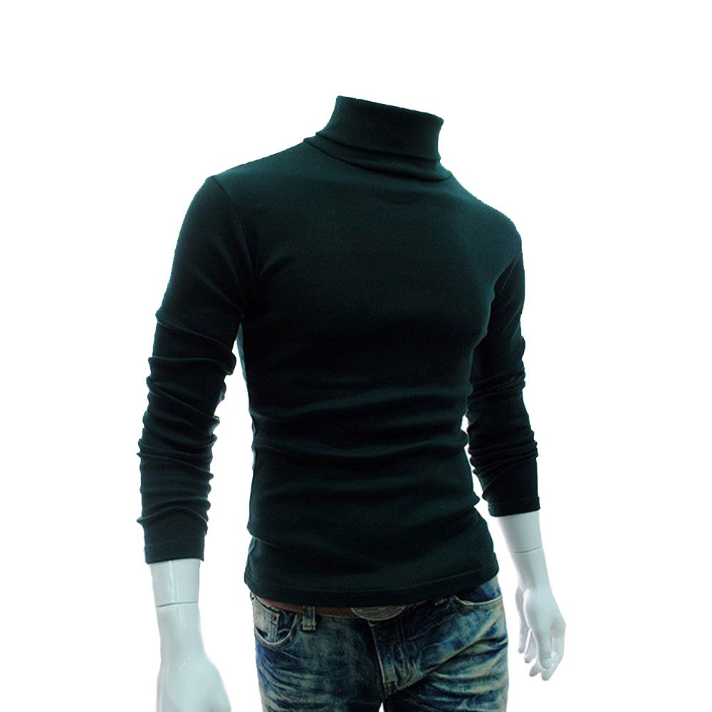 Mens Casual Basic Thermal Turtleneck Slim Fit Pullover Thermal Sweaters igcg1KF-LSZNZ-031