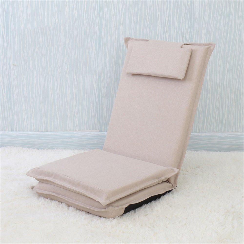 ベンチ 床の椅子のベッドコンピュータの椅子の背もたれの怠惰な単一の小さなソファ折り畳み式の寮の窓のスポンジ床のソファー (A++) (色 : 白) B07DFGPWN6 白 白