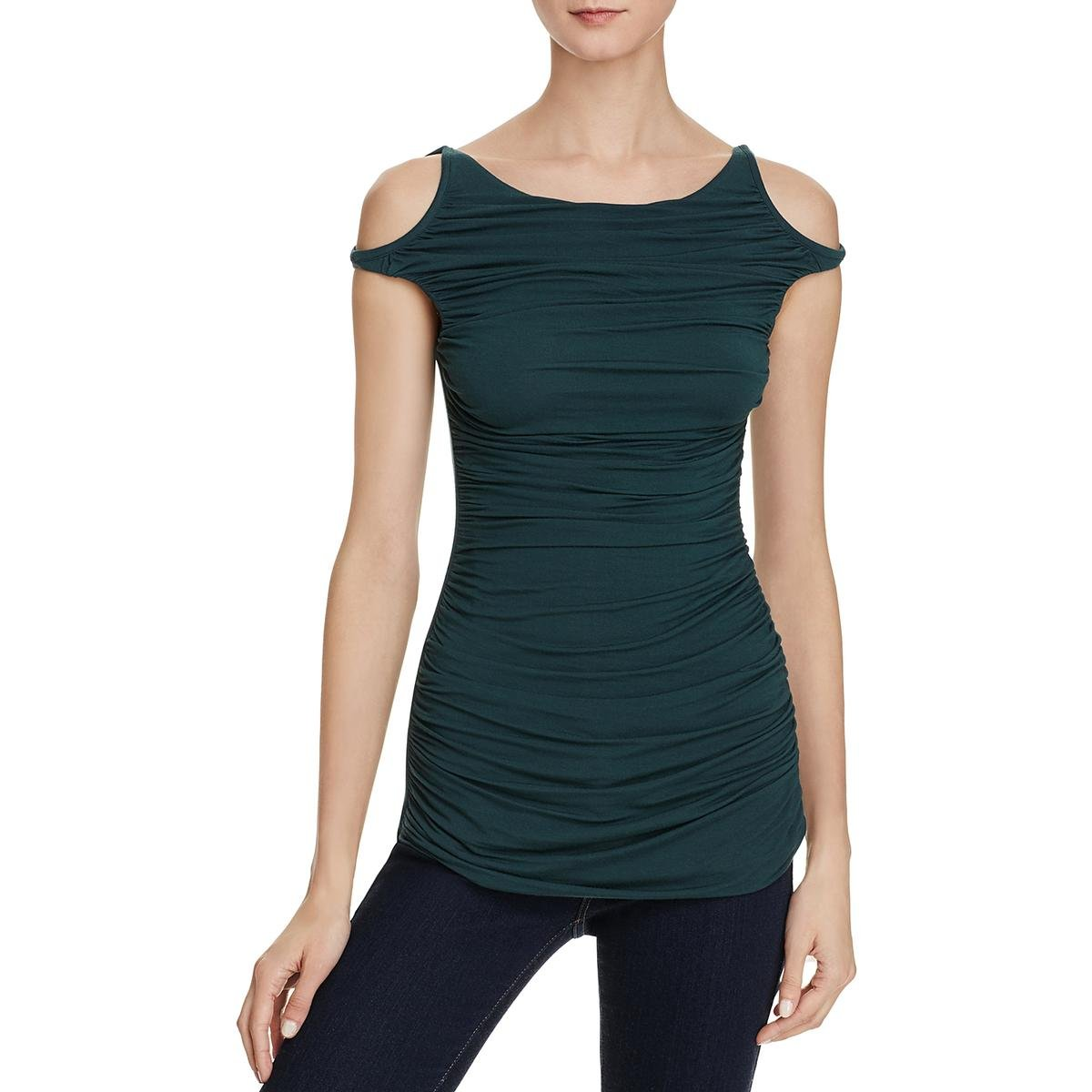 Bailey 44 Womens Charming Open Shoulder Drapey Casual Top Green M by Bailey 44 (Image #1)