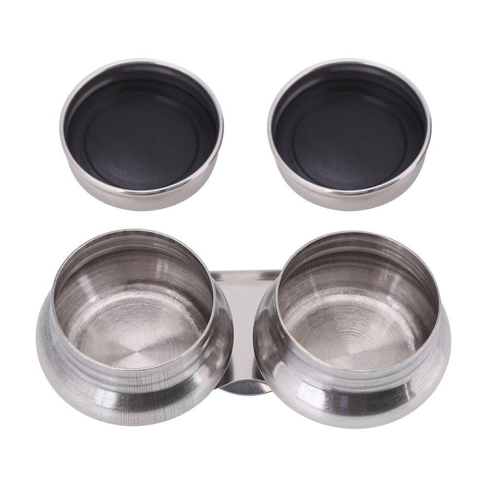 Tragbar Edelstahl gro/ß Mund Double Dipper Palette Cup f/ür /Ölfarbe megilp Terpentin L/ösungsmittel Beh/älter mit versiegelten Deckel