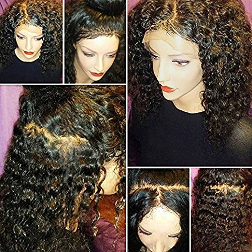 JAHUI Hair 8A Full Lace Human Hair Wigs for Black Women Wet Wavy Brazilian Virgin Hair Glueless Lace Front Wig with Baby Hair (12inch with 130% density, Full Lace wigs) by JAHUI Hair (Image #3)