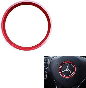 Mercedes C E CLA GLA GLC GLE Class 1x Red Steering Wheel Center Decoration Cover Trim For 2015