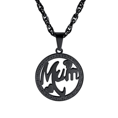 PROSTEEL Tree of Life Necklace with Chain, Perfume Storage,18K Gold Plated/Stainless Steel/Black Color(With Gift Box,Velvet)