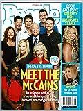 John, Cindy McCain + Family * Beyonce * Britney Spears * Todd + Sarah Palin * September 22, 2008 People Weekly Magazine