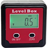 IUEGB Digital Level Box Angle Gauge / Protractor / Bevel Gauge / Inclinometer with Automatic LCD Backlight and Magnetic Base