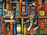 Toys : Buffalo Games The Cats of Charles Wyoscki - Frederick The Literate - 750 Piece Jigsaw Puzzle