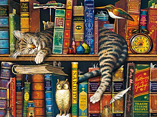 Price comparison product image Buffalo Games Charles Wysocki Cats: Frederick The Literate Jigsaw Puzzle (750 Piece)