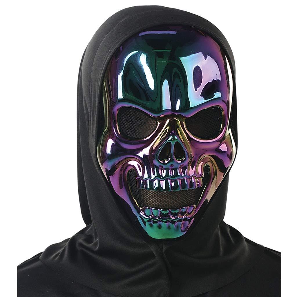 Liying Maske- Holy Day Maskerade Smiley Ghost Dämon Zombie dunkel überzogene Maske (Farbe : Black A, größe : One size)