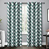 Exclusive Home Mars Woven Blackout Thermal Grommet Top Window Curtain Panels, Teal, 52-Inchx84-Inch, Set of 2