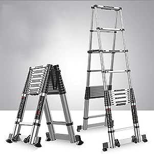Aluminio Aleación Telescópico Escalera,extensión Escalera Multifunción Escalera Portátil Plegables Extensible Escaleras De Mano Multi Propósito Escalera-b6 5.1+5.1m: Amazon.es: Bricolaje y herramientas