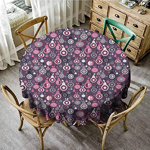 Rank-T Round Tablecloth Vinyl Elastic 43