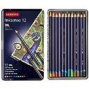 Derwent Colored Pencils, Drawing, Watercolor, Art, Inktense Ink Pencils, 12-Pack (0700928)