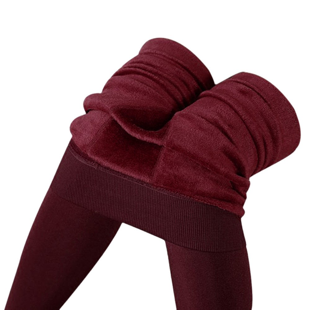 Big Promotion! Women's Winter Warm Fleece Lined Leggings Thick Elastic Tights Thermal Pants