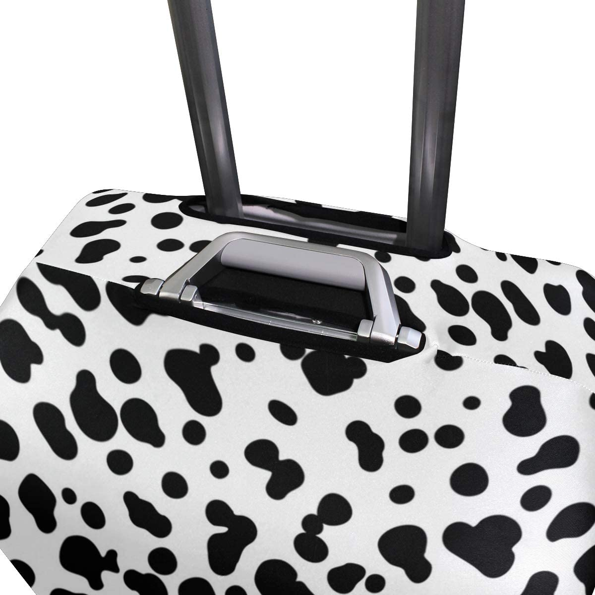 Milk Leopard Print Decor Traveler Lightweight Rotating Luggage Protector Case Can Carry With You Can Expand Travel Bag Trolley Rolling Luggage Protector Case