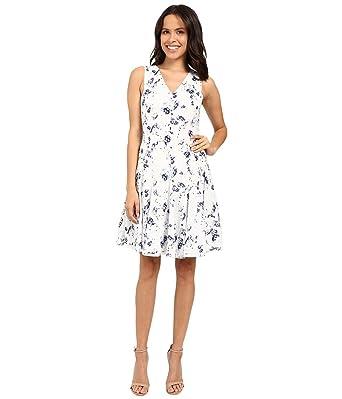 Amazon.com: Rebecca Taylor Womens Sleeveless Meteor V-Neck Dress ...