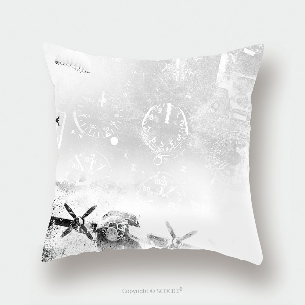 Custom Satin Pillowcase Protector Aviation Grunge Background 147361259 Pillow Case Covers Decorative by chaoran