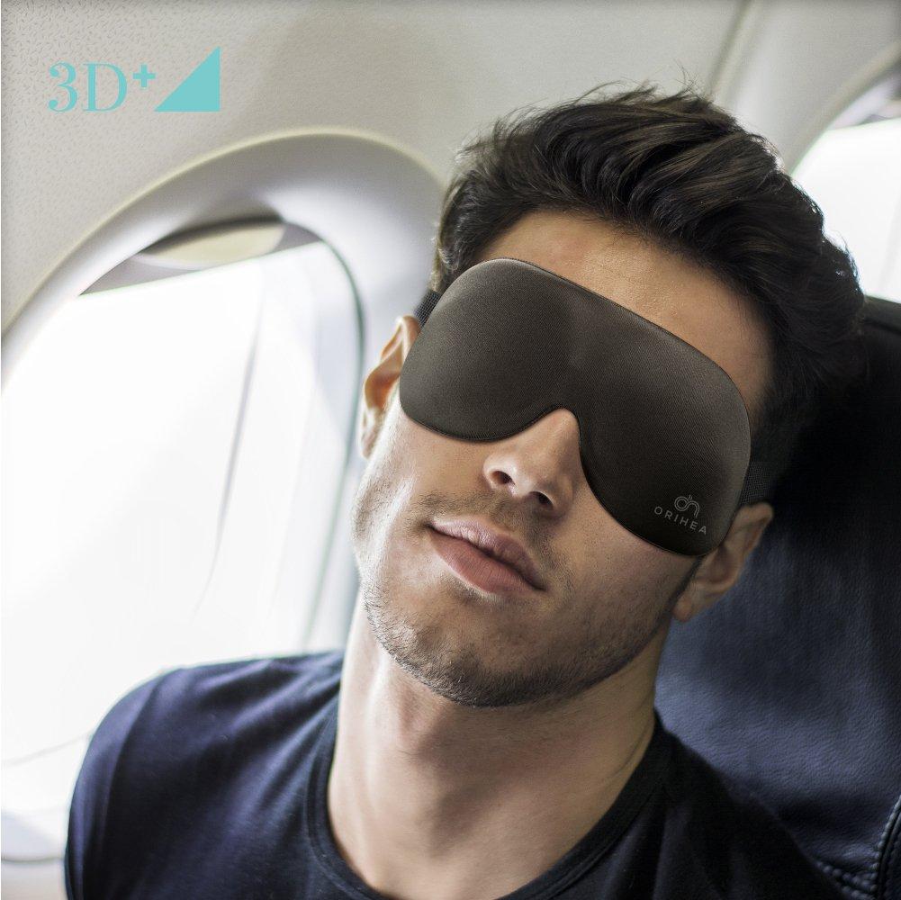 Noir Masque de Sommeil OriHea Cache Yeux pour Femme et Homme Masque de Sommeil /à Design Brevet/é Occultant /à 100/% Bandeau /à Yeux Confortable