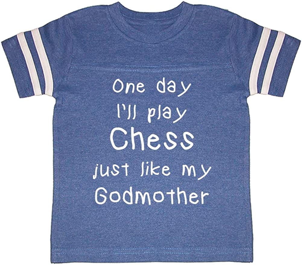 One Day Ill Play Chess Just Like My Godmother Toddler//Kids Sporty T-Shirt
