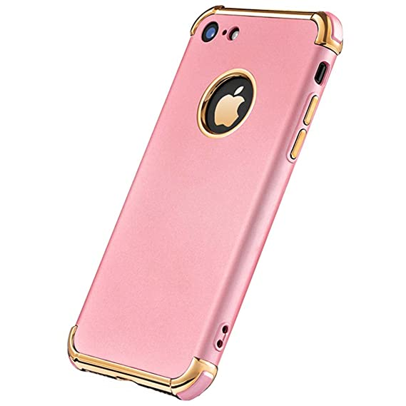 I Phone 6 Plus Case, Ultra Slim Flexible I Phone 6 Plus Matte Case, Electroplated Shockproof Luxury Cover Case For I Phone 6 Plus/6s Plus (Rose) by Tverghvad