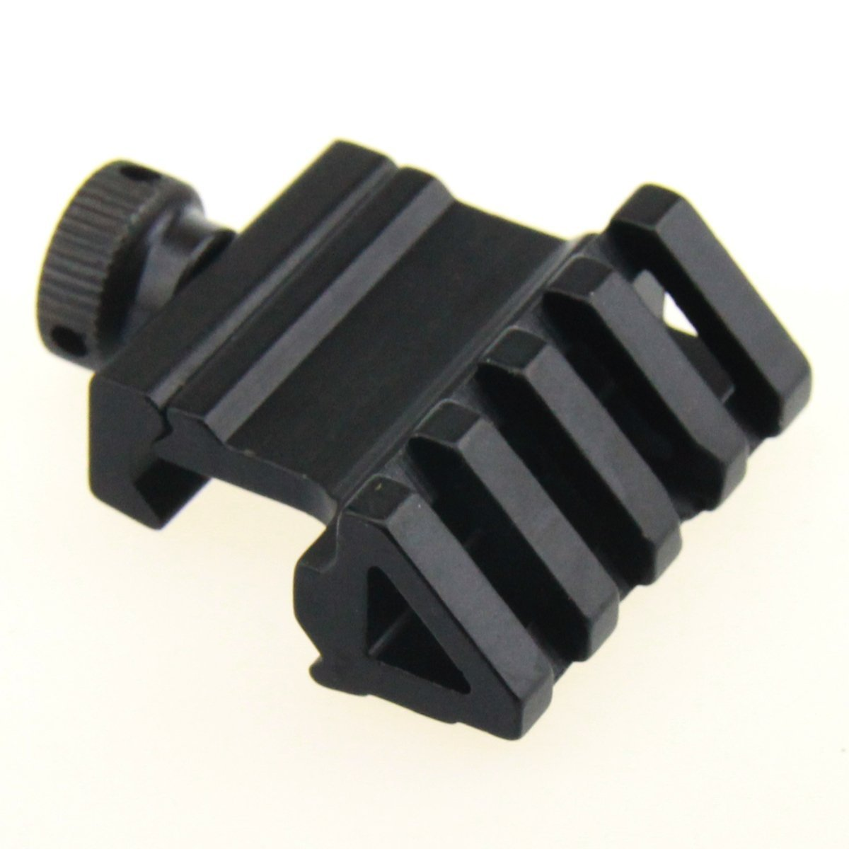 TACFUN Picatinny Style 45 Degree 4 Slots Offset Angle Rail Mount for Flashlight, Sight, RED Laser
