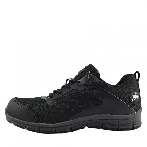 Mens Bases de Acero Puntera de Seguridad de Encaje de Trabajo Ligero Entrenadores,punta de Acero: Amazon.es: Zapatos y complementos