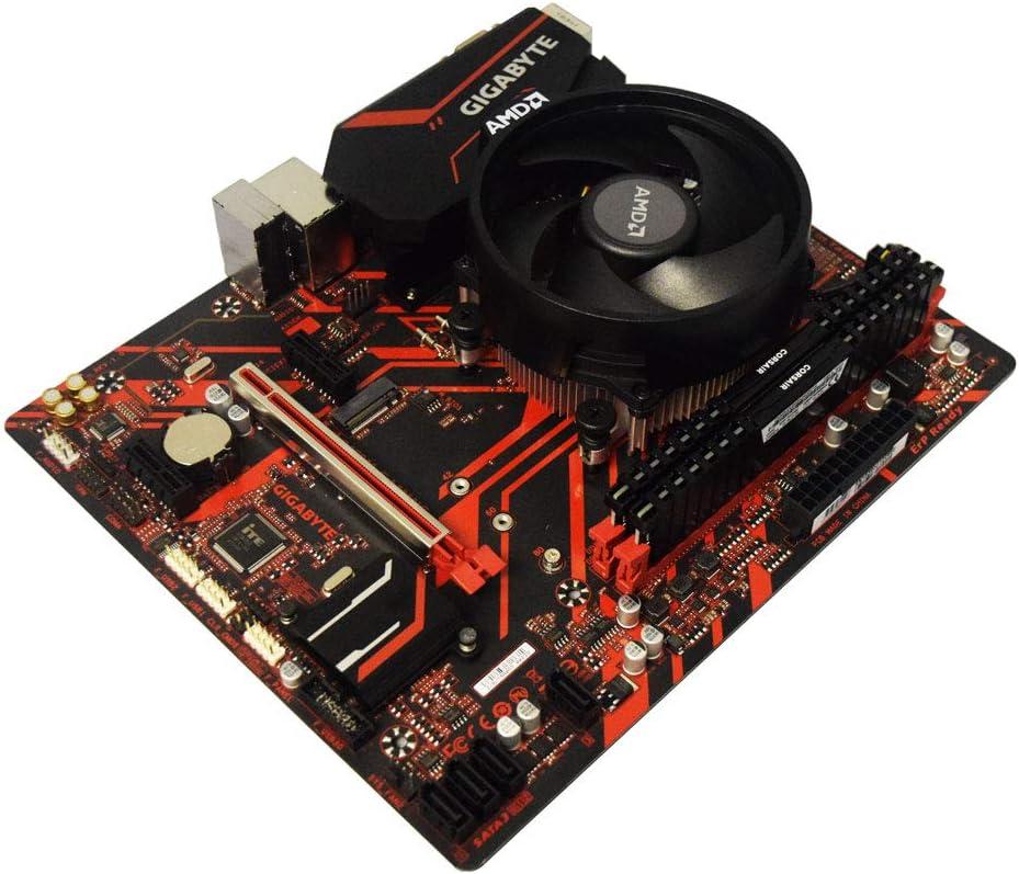 ADMI CPU Motherboard Bundle: AMD Ryzen 5 2600X CPU Six Core 4.2GHz CPU, Gigabyte B450M GAMING Motherboard, No RAM