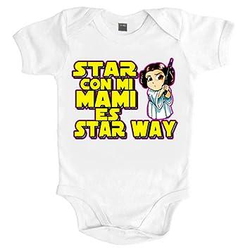 Body bebé Star Wars estar con mi mami es Star Way Princesa Leia - Blanco, 6-12 meses