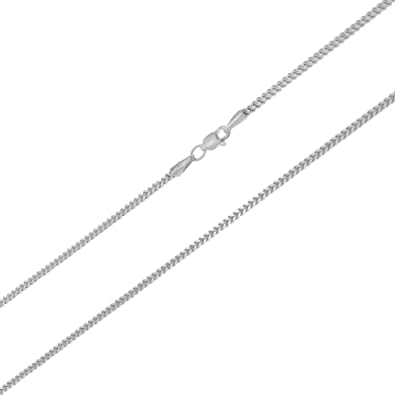 Genuine 10k White Gold 0.9 mm Classic Box Chain Necklace 16 to 30 Inches