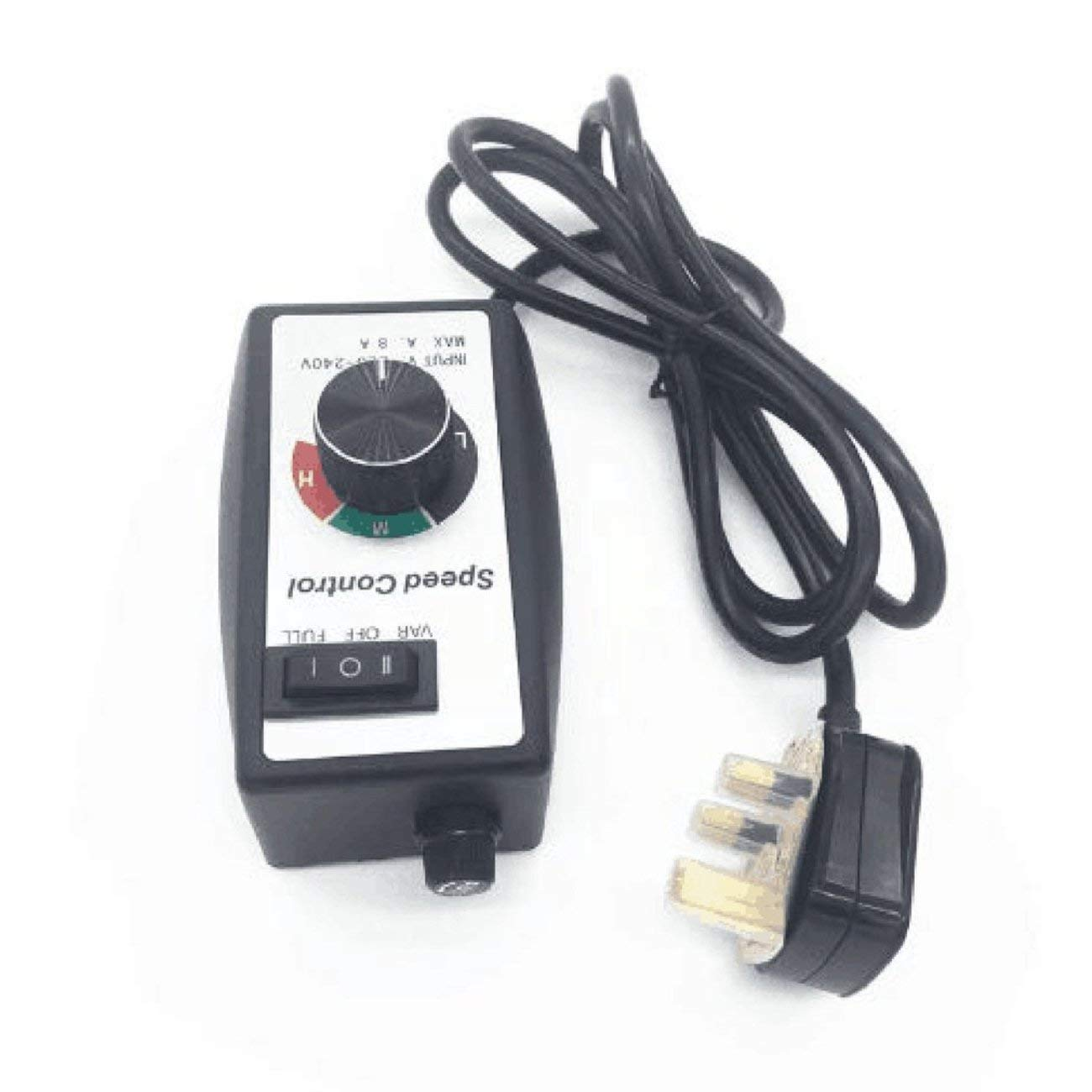 Elviray Electric Motor Rheosta Router Fan Variable Speed Controller Electric Motor Rheostat Electronic Control Equipment UK