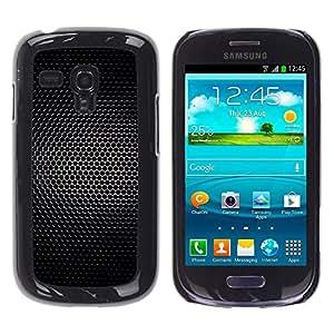 MOBMART Carcasa Funda Case Cover Armor Shell PARA Samsung Galaxy S3 MINI 8190 - Black Net Light Dots