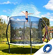 NEOROD Trampoline Sprinkler Water Park Thicken Heavy Duty Sprinkler Hose- Kids Fun Summer Outdoor Backyard Wat
