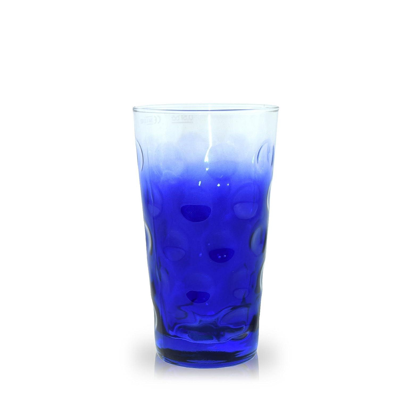 Farbige Dubbegl/äser 0,5 Liter Dubbeglas Lila Dreiviertel farbiges Schoppenglas