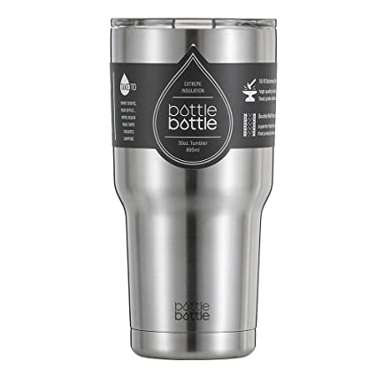 49270ede2df Image Unavailable. Image not available for. Color: Bottlebottle 30 oz Insulated  Travel Coffee Cup Stainless Steel Tumbler ...