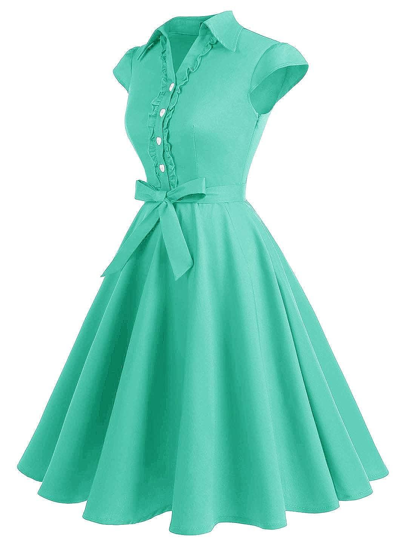 Wedtrend Donne 1950 Audrey Hepbun Vintage di Polka Dots Cocktail Vestito