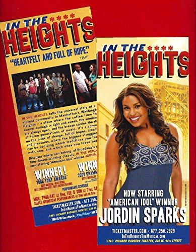 "Lin-Manuel Miranda ""IN THE HEIGHTS"" Jordin Sparks (""American Idol"") 2010 Flyer"