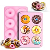 PaWuKi Silicone Donut Pan, Non-Stick Mold, Donut Mold for 6 Full-Size Baking Perfect Shaped Doughnuts - Cake Biscuit Bagels,