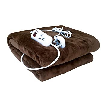 ea05322a9367 Bauer Super Soft Touch Luxury Heated Sofa Blanket, Chocolate Brown 120x160cm