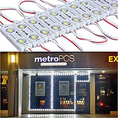 9FT 40 Leds Store Window Lights Waterproof 12V 5730 LED Module Light With LED Project Lens White Lighting for Shop Bars Light Fixtures