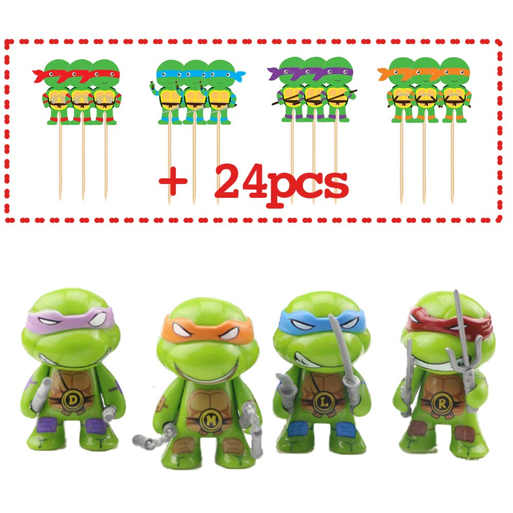 Ninja Turtle Cake Topper Figures Toy Set of 28-Party ...