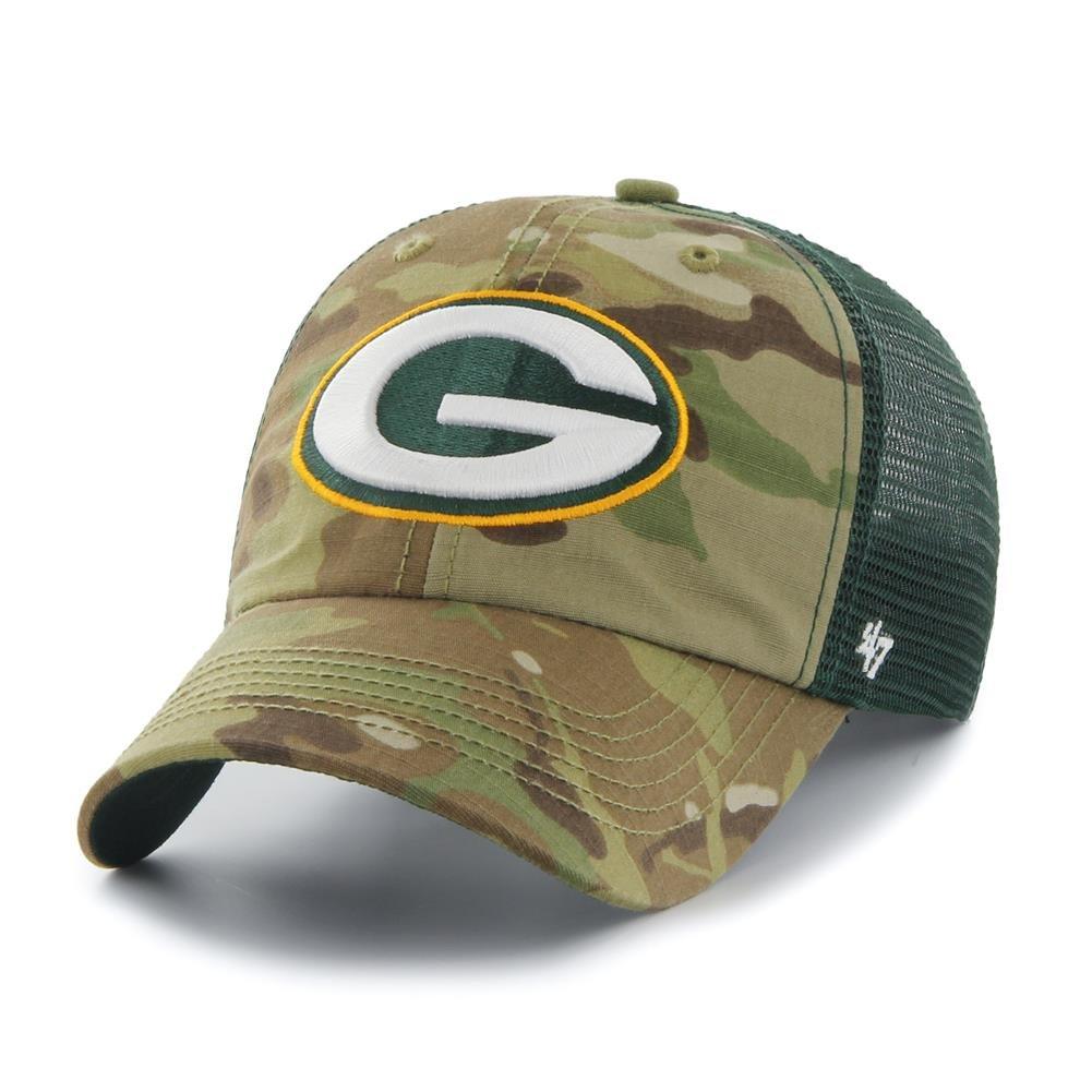 d93375e9 Green Bay Packers Hat Flex Fit Camouflage Mesh Compass Closer 12134