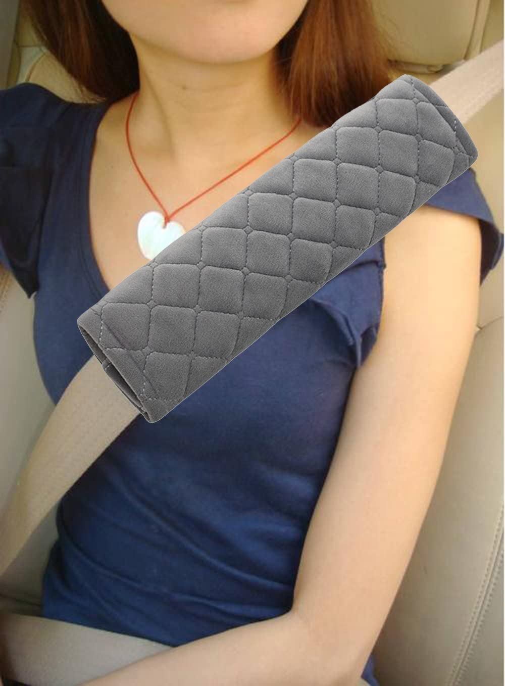 Forala 4pcs//Pack Car Seatbelt Pads Soft Faux Wool Plush Shoulder Strap Belt Covers Harness Protector for Cars//Bags//Cameras//Warm Winter Stress Relax for Your Neck Black