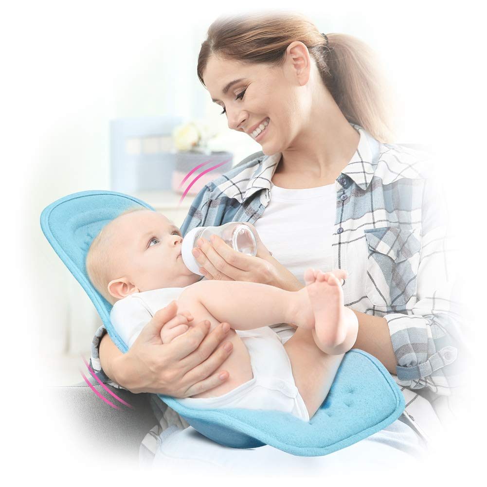 Kelpie Baby Nursing Pillow, Unique Ergonomics Design Baby Breastfeeding Pillow, Promote 45〫Breastfeeding Posture and Prevent Milk Spitting, Comfortable Feeding Pillow for Baby from 0-5 Months